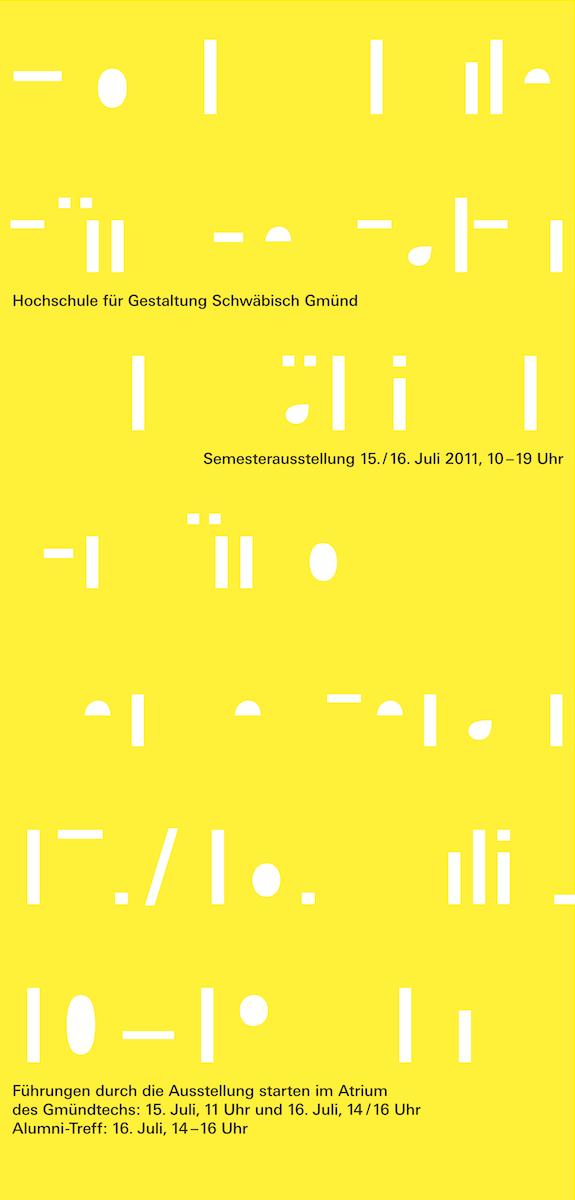 HfG Semesterausstellung Sommersemester 2011 Plakat