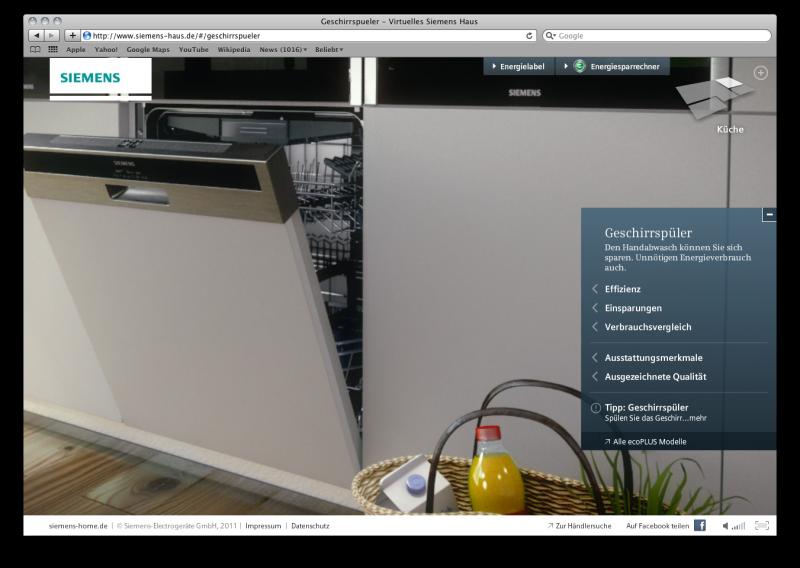 siemens 3d showroom. Black Bedroom Furniture Sets. Home Design Ideas