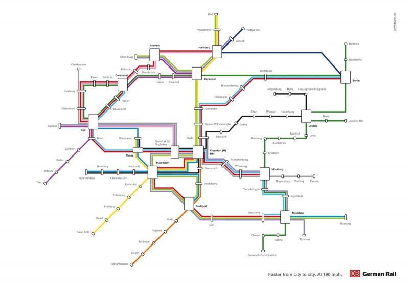 Deutsche Bahn – Streckennetz