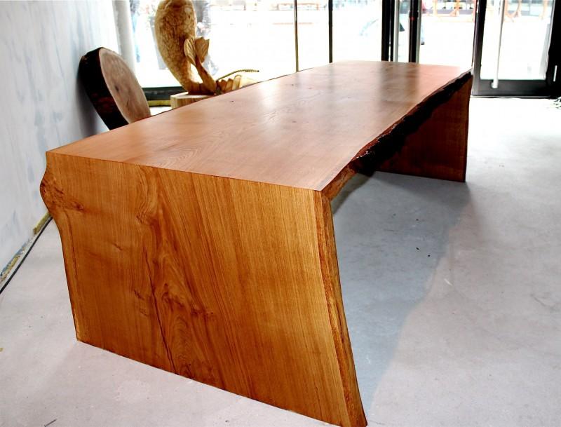 Tisch esstisch schreibtisch aus eichenholz for Tisch iphone design