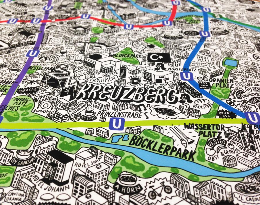 Hand Drawn Map of Berlin