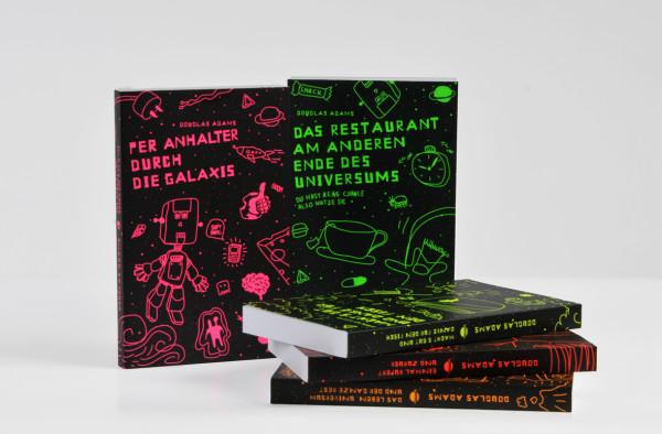 Per Anhalter durch die Galaxis / Buchcover + Schuber (6)