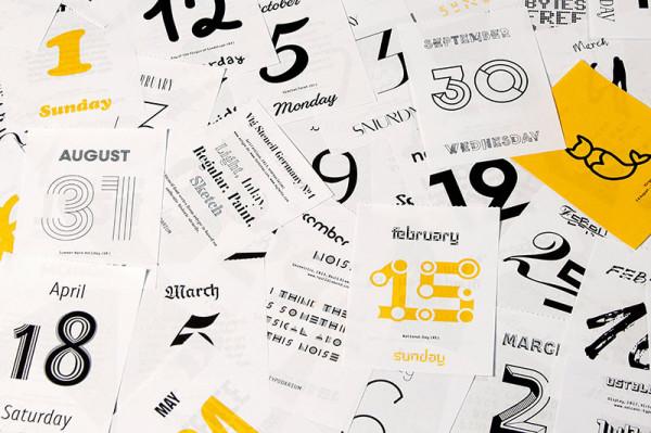 Typodarium 2015 –  The Daily Dose of Typography (3)