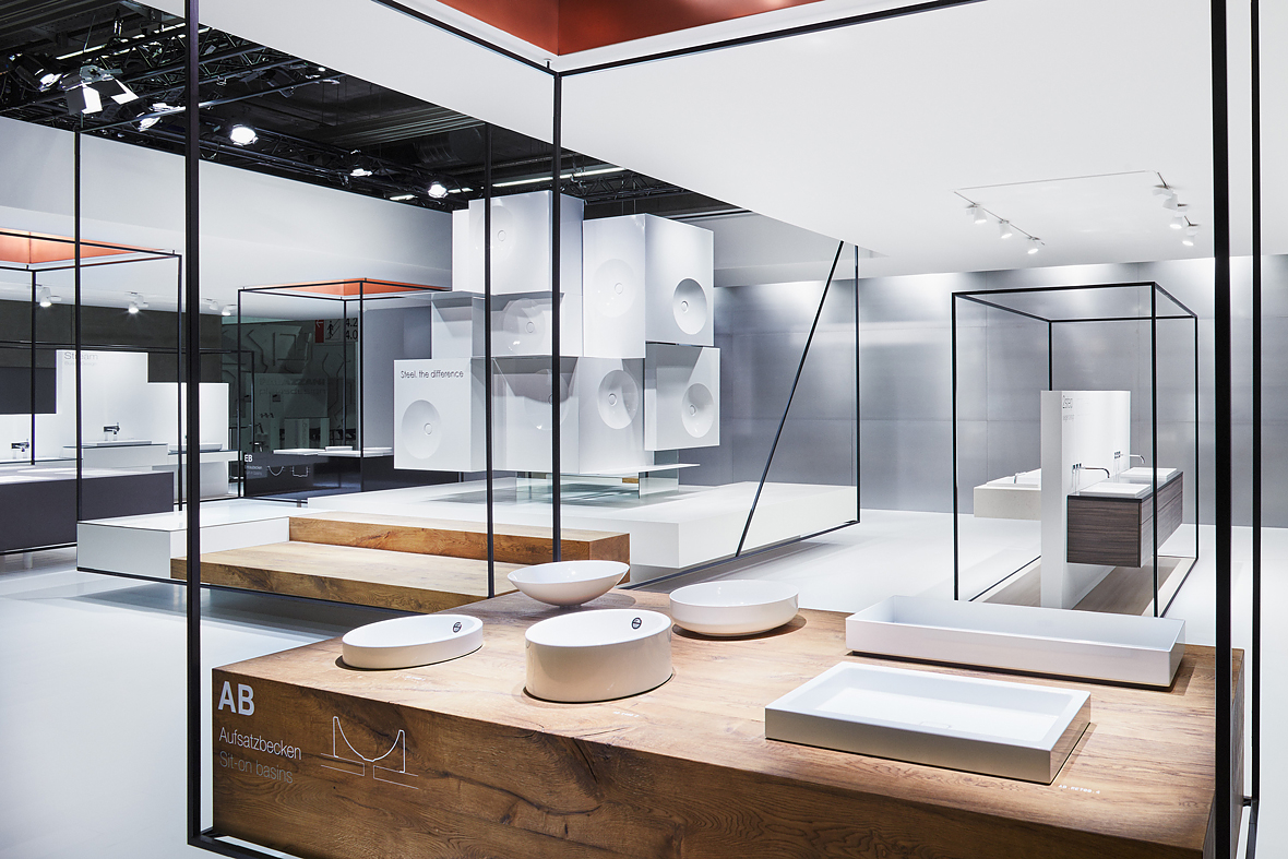 D Printing Exhibition Frankfurt : Filigran und schwebend messestand für alape