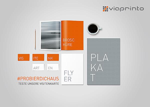 500 Visitenkarten Kostenfreier Probedruck Mit Viaprinto