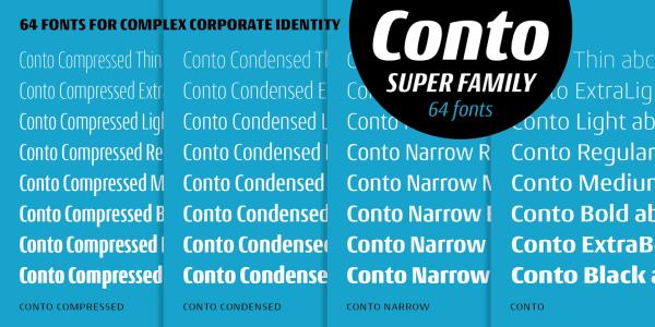 Conto Super Family – 64 Fonts (1)