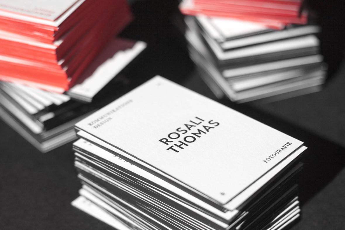 Rosali Thomas Letterpress Visitenkarten