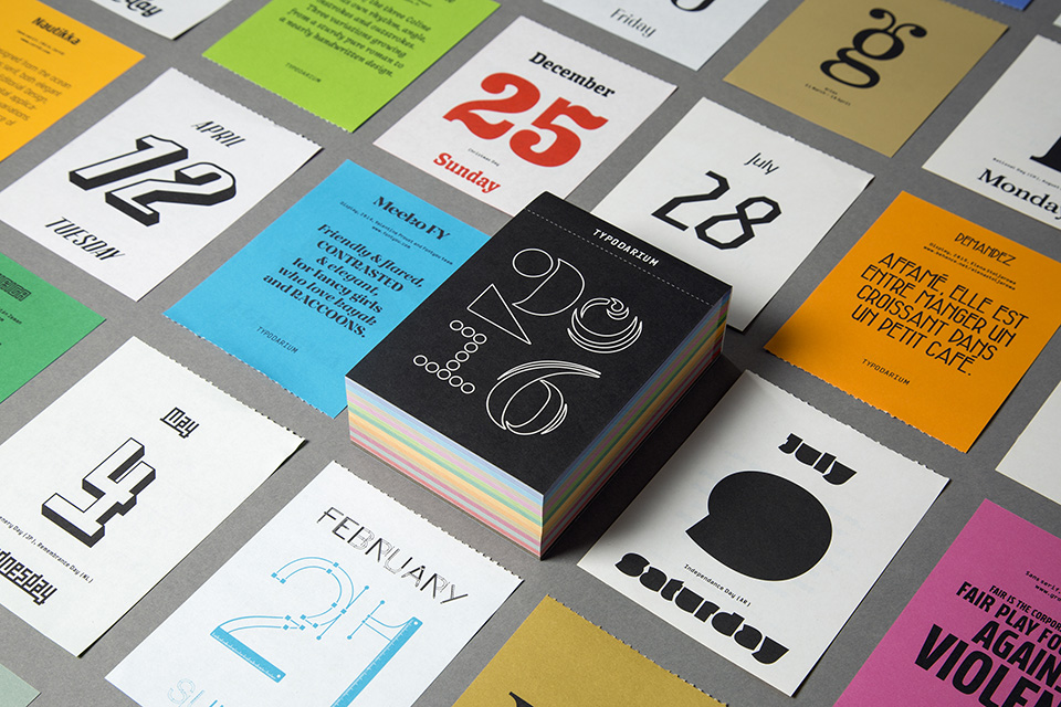 Typodarium 2016 – The Daily Dose of Typography (1)