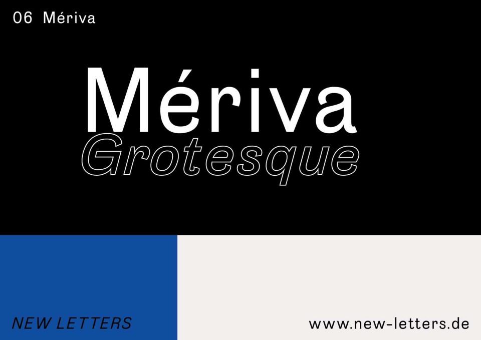 Mériva Grotesque Typeface (1)