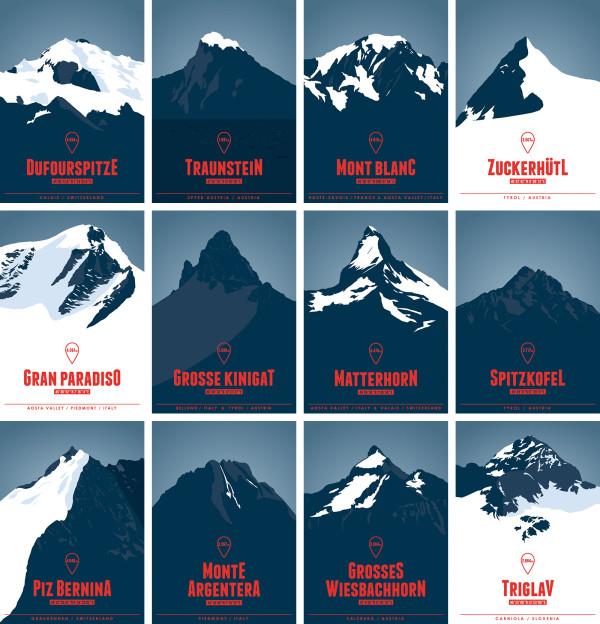 Die Alpen. 634 Skigebiete. Eine Karte. (9)