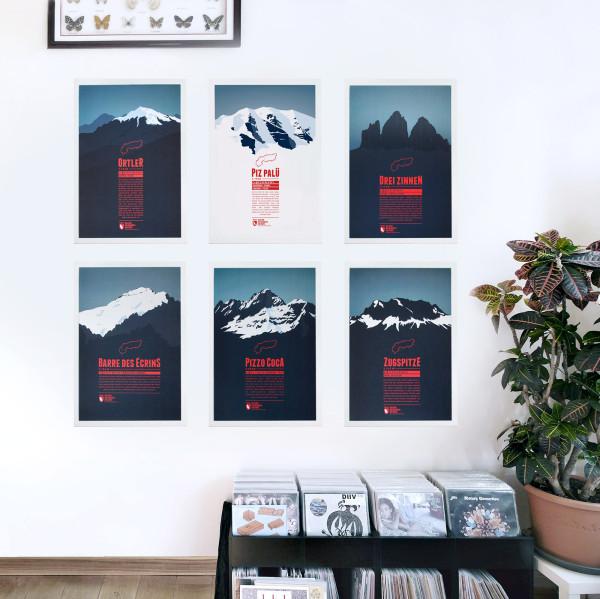 Die Alpen. 634 Skigebiete. Eine Karte. (10)