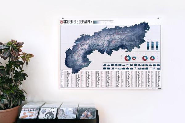 Die Alpen. 634 Skigebiete. Eine Karte. (1)