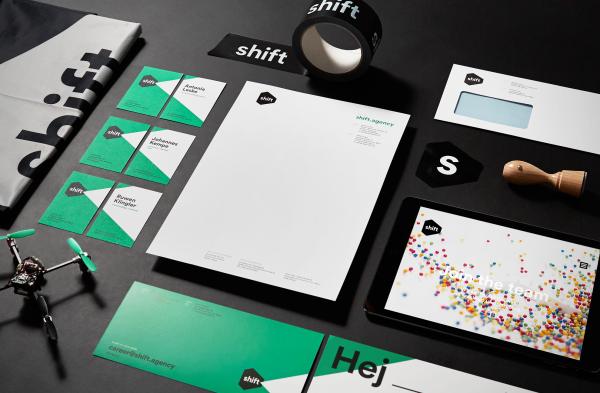 Corporate Design für die Digital Agentur Shift (1)
