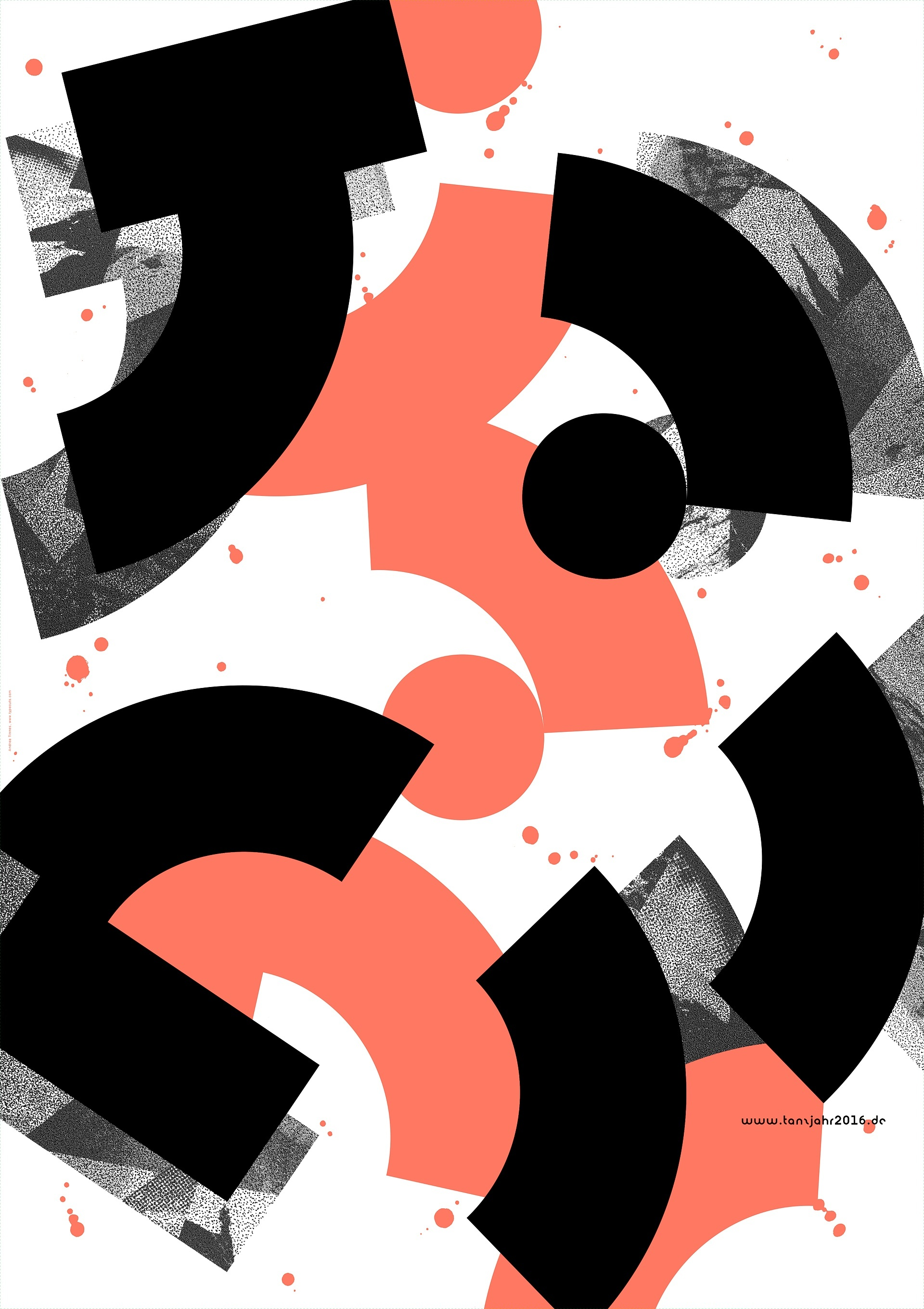 16 designer 3 formen 2 farben 16 plakate f r das tanzjahr 2016. Black Bedroom Furniture Sets. Home Design Ideas