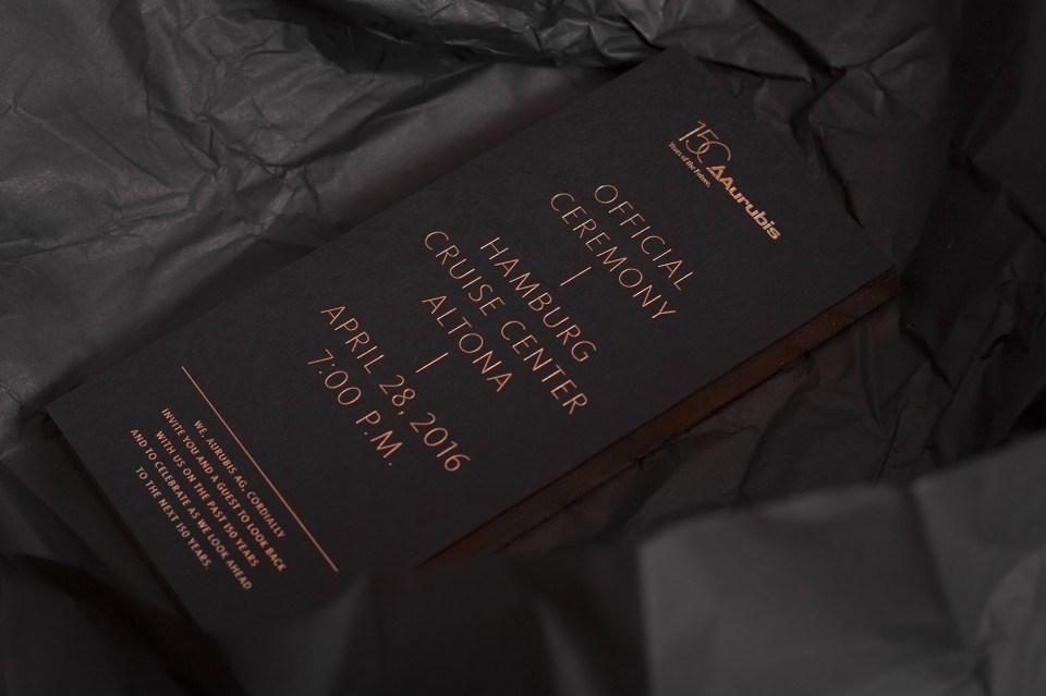 Aurubis – Einladung: Festakt zum 150-jährigen Jubiläum (1)