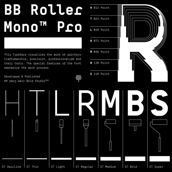 BB Roller Mono Pro – Typeface (1)