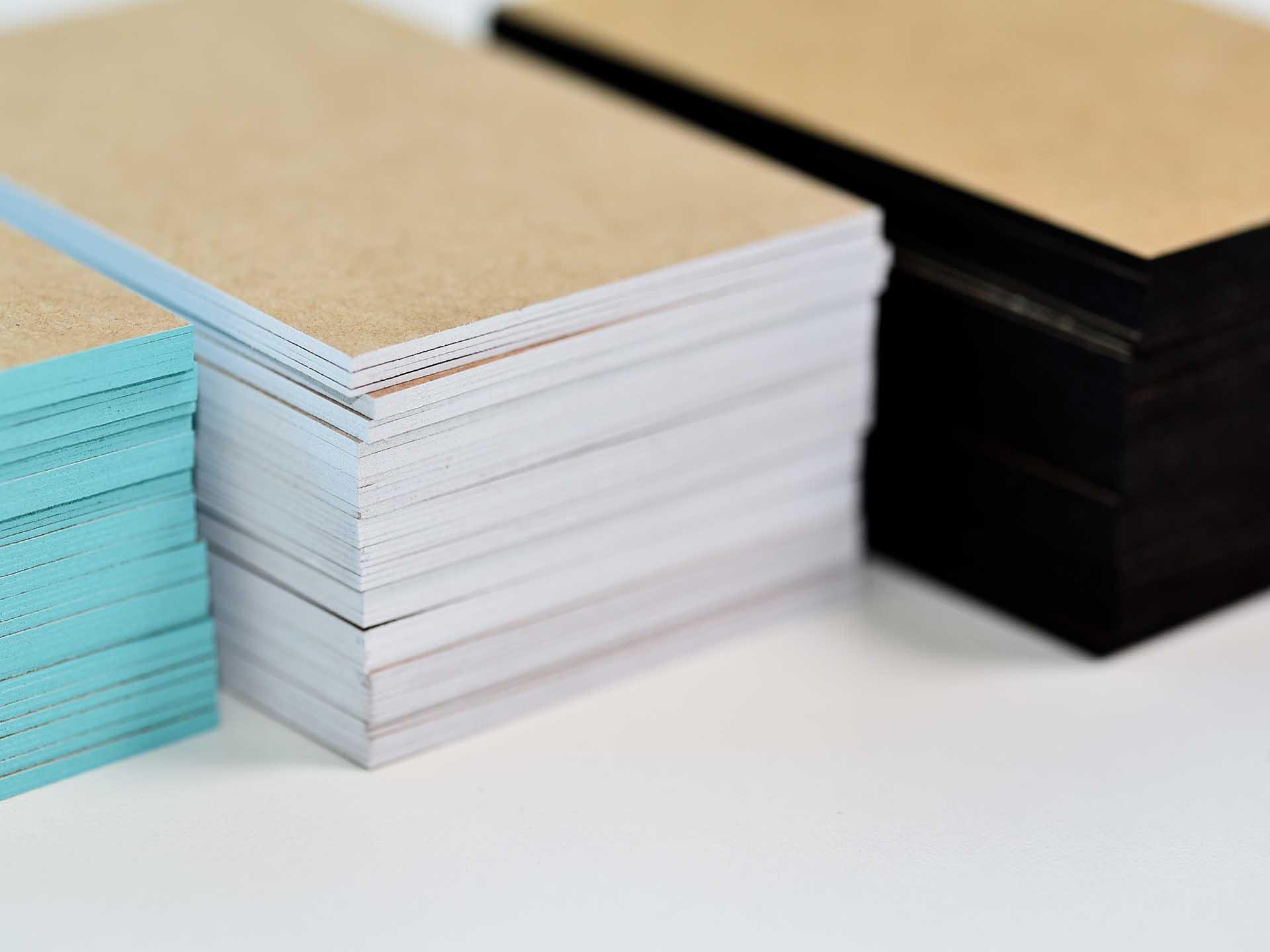 Blanko Visitenkarten Mit Farbschnitt Jetzt Mit Kraftkarton