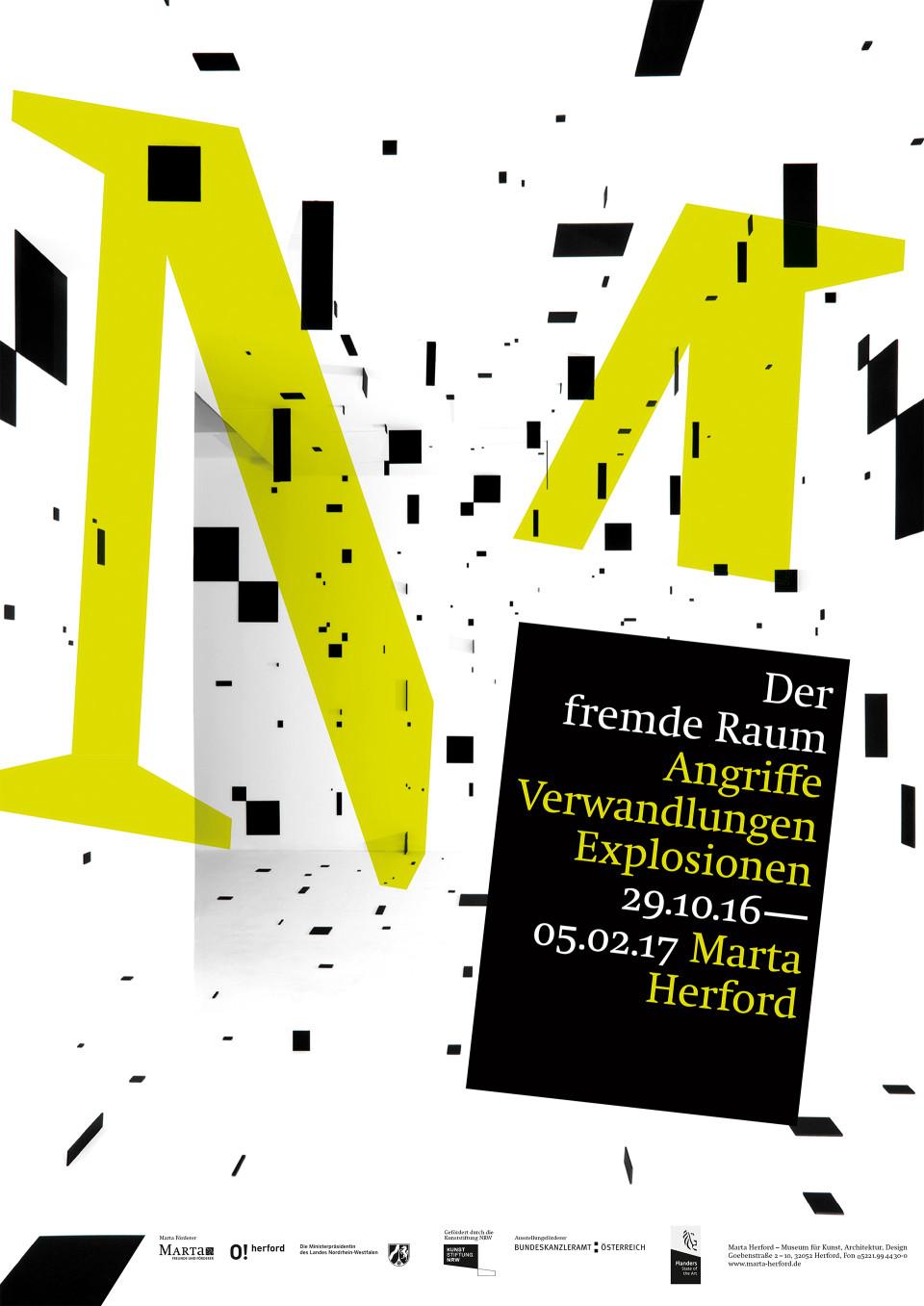 Ausstellungsplakate für das Marta Herford