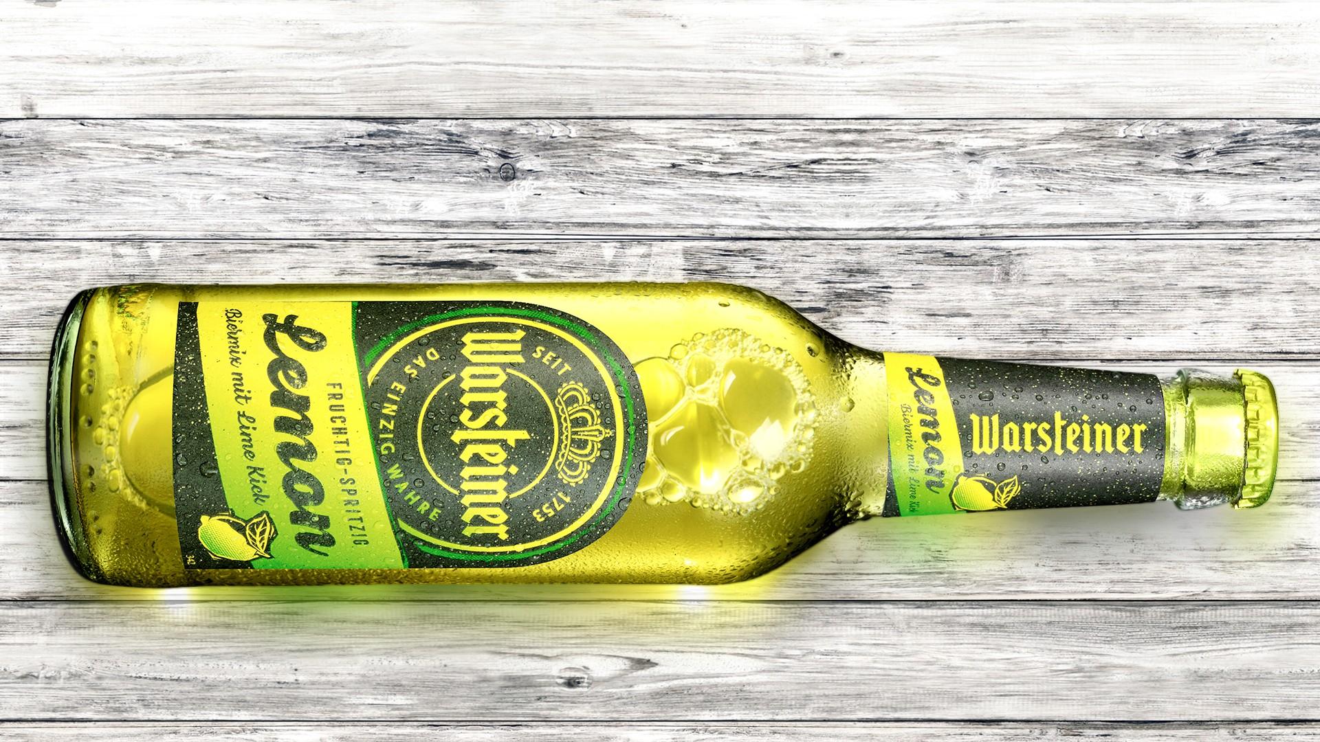 Warsteiner Lemon Biermix Und Warsteiner Redesign