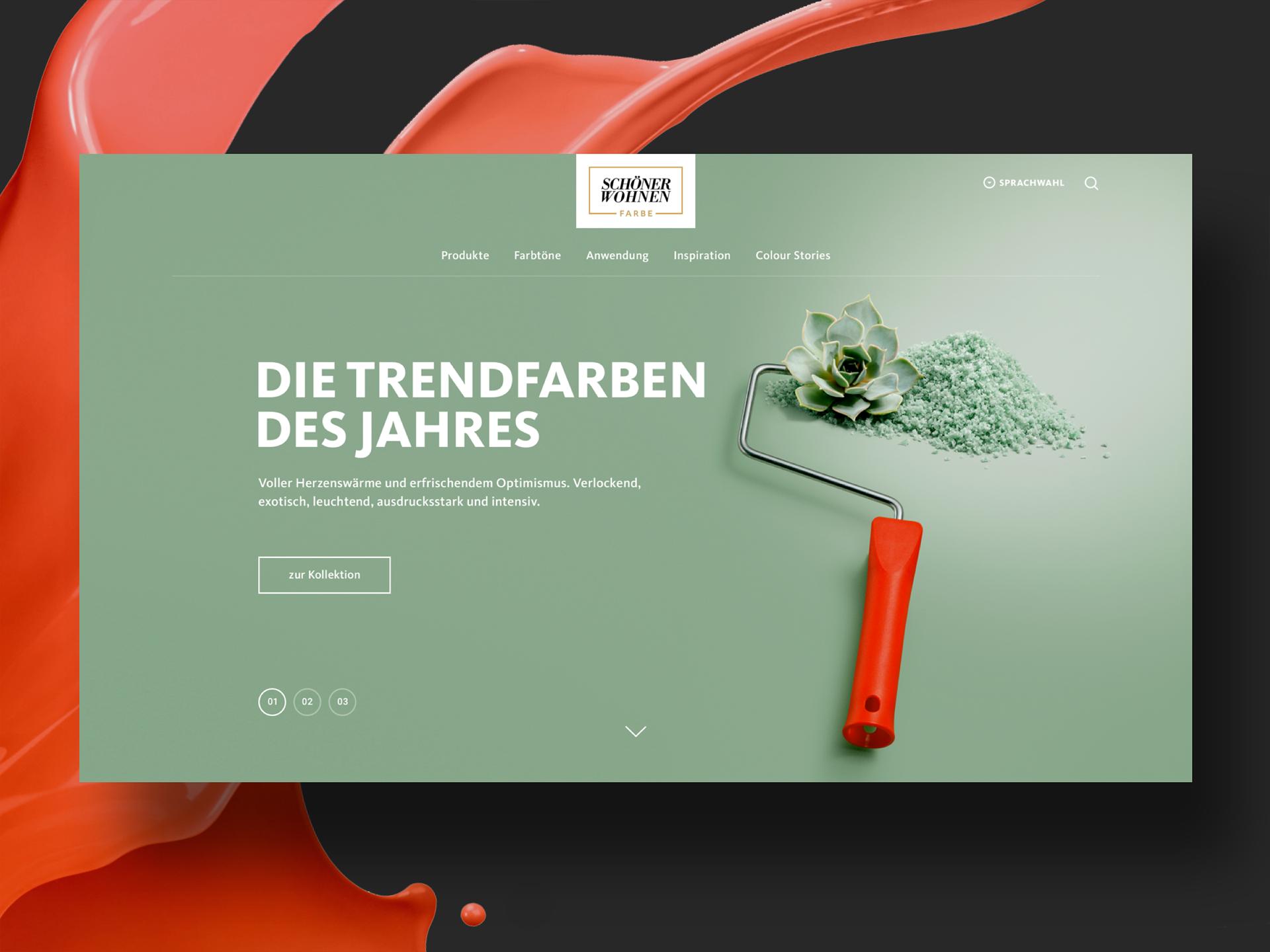 Schöner Wohnen Farbe Website-Relaunch