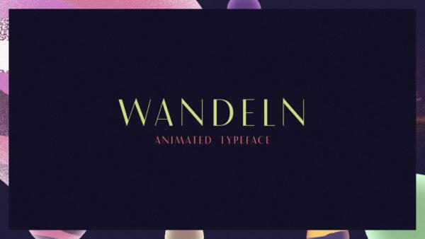 Wandeln – Animated Typeface Promo (9)
