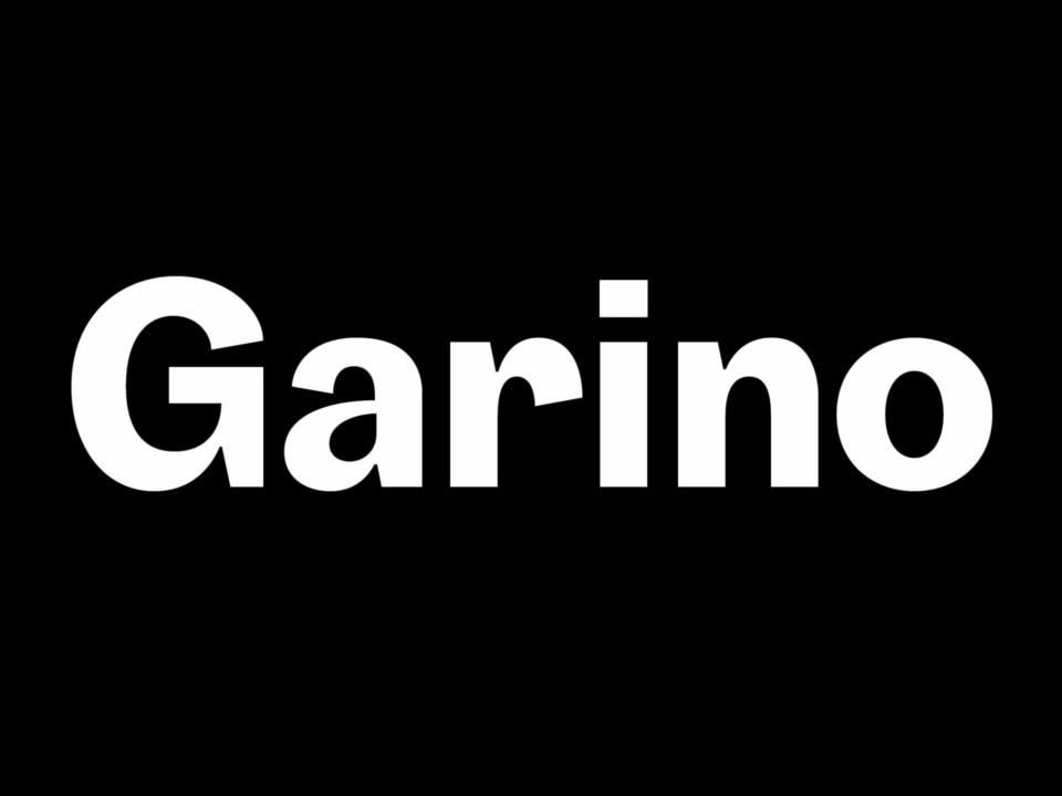 Garino Schriftfamilie (1)