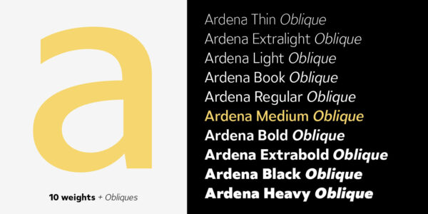 Ardena Schriftfamilie (2)