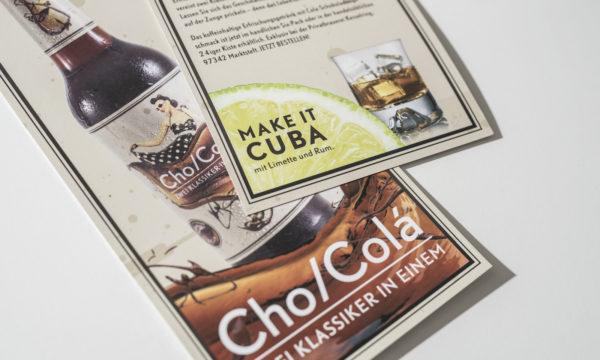 Cho/colá – die Cola mit dem Schoko-Tick. (5)