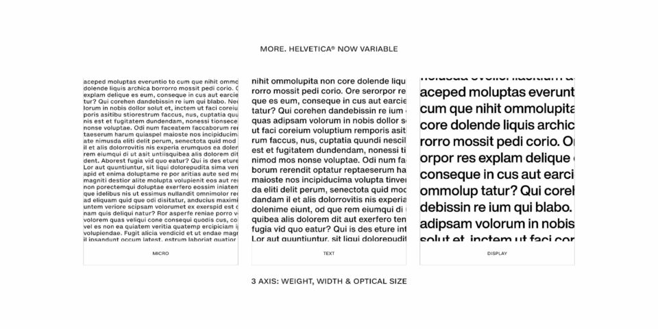 Helvetica Now Variable